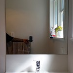 Bathroom: Custom Glass Splashback and Mirror
