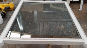 After (1): Double-hung sash window retrofitted with double glazed unit in workshop