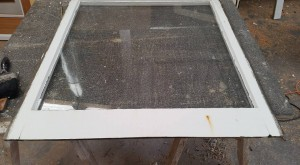 Before: Original double-hung sash window (single glazed)